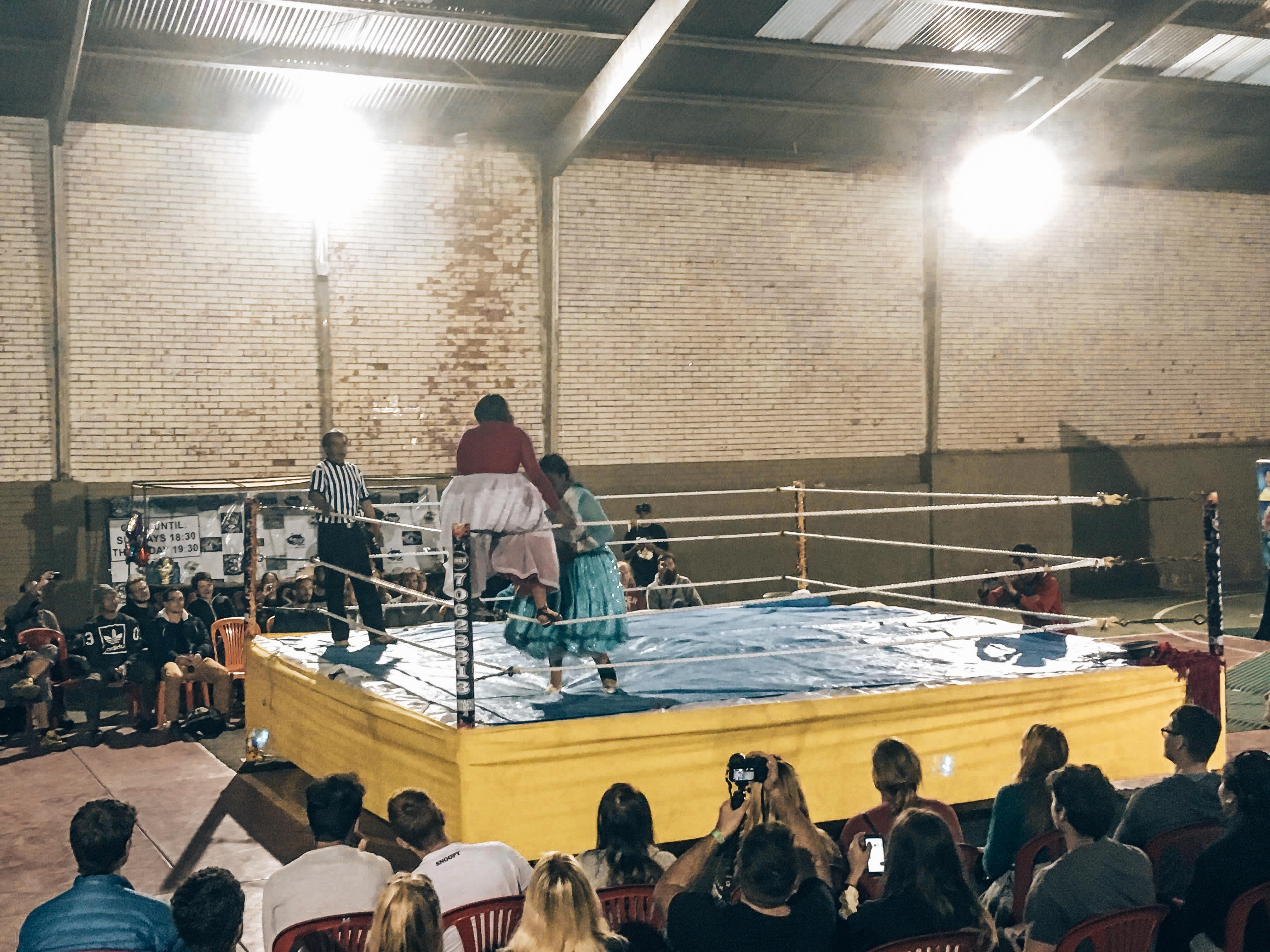 Cholita Wrestling Ring Bolivia